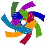 mångfaldhänder Fotografering för Bildbyråer