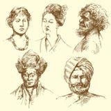 mångfaldhumanstående stock illustrationer