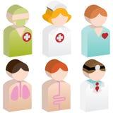 mångfaldsjukvårdfolk Arkivbild