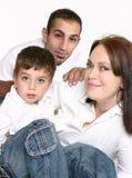 mångkulturell familj royaltyfri bild
