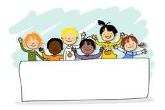 mångkulturella barn Royaltyfri Fotografi