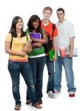 mångkulturella deltagare för högskola royaltyfria foton