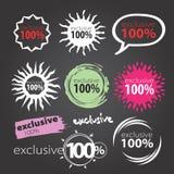 Vektor 100 markerar Arkivfoton