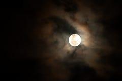 Månsken blodmåne Arkivbilder