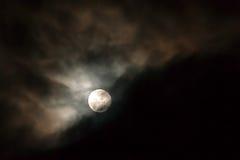 Månsken blodmåne Arkivfoton