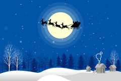 Månsken för Santa Claus konturvektor Arkivbild