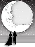 Månskenpromenad Arkivfoton