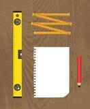 Måtthjälpmedel vektor illustrationer