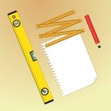 Måttinstrument stock illustrationer