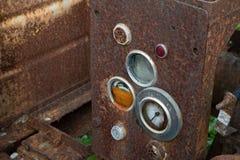 Måttmeter av maskinen i garagepilok Thailand royaltyfria bilder