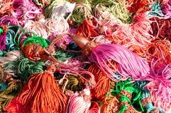 Mèches de soie et tissu de la bride pour tirer les rideaux Photographie stock