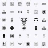 mènent l'icône de train Ensemble universel d'icônes ferroviaires d'avertissements pour le Web et le mobile illustration stock