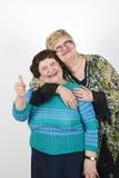 Mère aînée avec son descendant mûr Image libre de droits