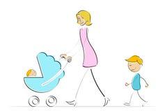 Mère avec des gosses Image stock