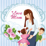 Mère avec deux enfants Photos stock