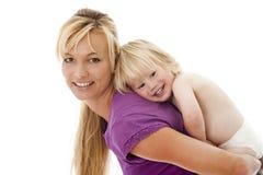 Mère avec l'enfant Photos stock