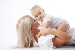 Mère avec la chéri Photographie stock