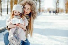 Mère avec la fille image libre de droits