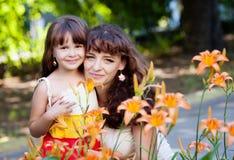 Mère avec la fille Photos libres de droits