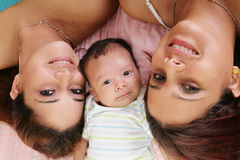 Mère avec la fille et la tante Photos libres de droits
