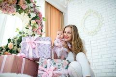 Mère avec la petite fille Photo libre de droits