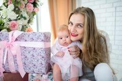 Mère avec la petite fille Images stock