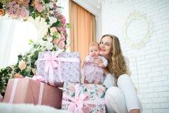 Mère avec la petite fille Images libres de droits