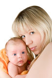 Mère avec le bébé Image libre de droits