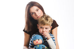 Mère avec le fils Image libre de droits