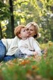 Mère avec le fils Photos stock