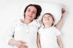 Mère avec le fils Photo libre de droits