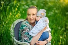 Mère avec le nouveau-né Image stock