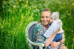 Mère avec le nouveau-né Image libre de droits