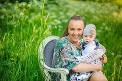 Mère avec le nouveau-né Photo libre de droits