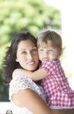 Mère avec sa belle fille Photo libre de droits