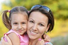 Mère avec sa fille Images stock