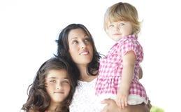 Mère avec ses belles filles Photo libre de droits