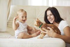 Mère avec son bébé Image libre de droits