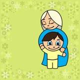 Mère avec son bébé illustration de vecteur