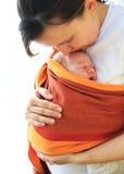 Mère avec son beau bébé photo stock