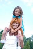 Mère avec son descendant Image stock