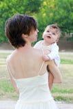 Mère avec un enfant Photo stock