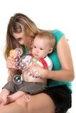 Mère avec un enfant Image stock