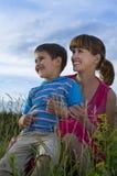 Mère avec un fils Images stock