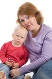 Mère avec une chéri Photographie stock libre de droits