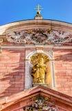 Mère d'église paroissiale de Dieu à Aschaffenburg Images libres de droits