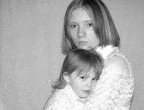 Mère d'adolescent/soeurs Photo libre de droits
