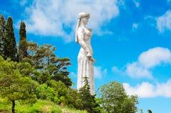 Mère de monument de la Géorgie à Tbilisi photo libre de droits