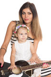 Mère de sourire avec sa fille de ‹d'†de ‹d'†Photo libre de droits