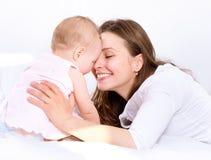 Mère et bébé Image libre de droits